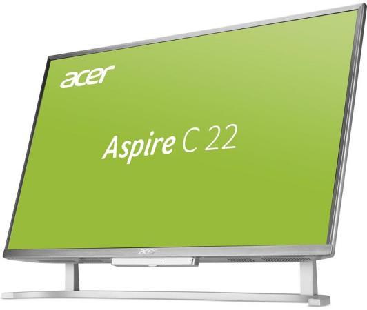 Моноблок 21.5 Acer C22-760 DQ.B8WER.004 1920 x 1080 Intel Core i3-7100U 4Gb 500Gb Intel HD Graphics 620 DOS серебристый DQ.B8WER.004 ноутбук hp 15 bs027ur 1zj93ea core i3 6006u 4gb 500gb 15 6 dvd dos black