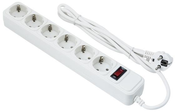 Сетевой фильтр Exegate SP-6-3W 6 розеток 3 м белый