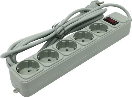 Сетевой фильтр Exegate SP-5-3G 5 розеток 3 м серый EX221186RUS