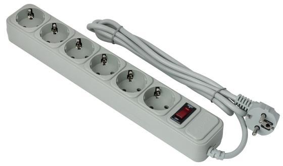 Сетевой фильтр Exegate SP-6-3G 6 розеток 3 м серый EX119392RUS сетевой фильтр exegate sp 5 3g 5 розеток 3 м серый ex221186rus