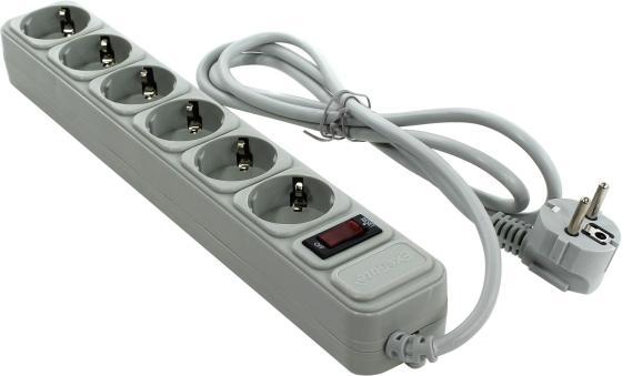 Сетевой фильтр Exegate SP-6-1.8G 6 розеток 1.8 м серый EX119388RUS цены онлайн