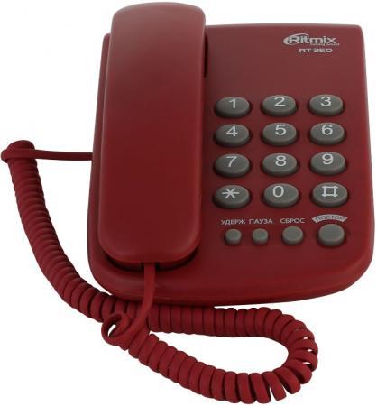 Телефон Ritmix RT-350 вишневый телефон ritmix rt 003 черный