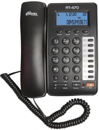 Телефон Ritmix RT-470 черный телефон ritmix rt 003 черный