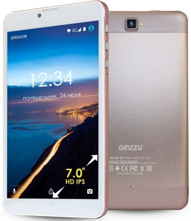 "все цены на Планшет GINZZU GT-7110 7"" 8Gb розовый Wi-Fi 3G Bluetooth Android GT-7110 Rose Gold онлайн"