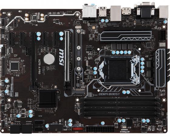 Материнская плата MSI H270-A PRO Socket 1151 H270 4xDDR4 2xPCI-E 16x 4xPCI-E 1x 6xSATAIII ATX Retail msi msi z97 pc mate atx