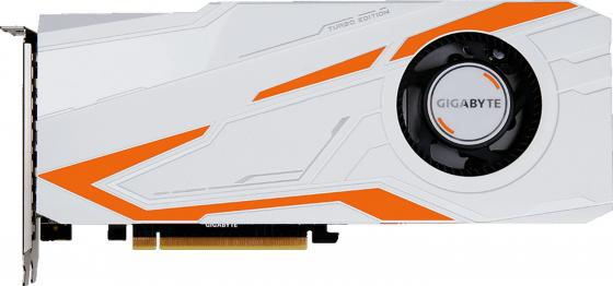 Видеокарта 11264Mb Gigabyte GeForce GTX1080 Ti Turbo 11G PCI-E HDMI DP DVI HDCP GV-N108TTURBO-11GD Retail видеокарта asus geforce gtx 1080 8192mb turbo gtx1080 8g dvi d 2xhdmi 2xdp ret