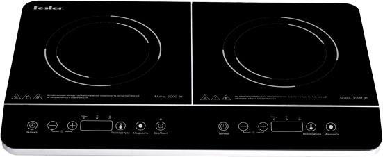 Индукционная электроплитка TESLER PI-22 чёрный индукционная электроплитка tesler pi 22 чёрный