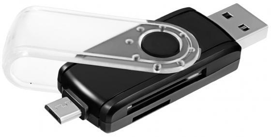 Картридер внешний Ginzzu GR-589UB USB 3.0/OTG microUSB черный картридер внешний ginzzu gr 325b черный