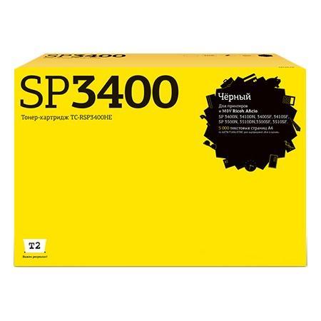 Фото - Картридж T2 SP3400HE для Ricoh SP3400//3410/3500/3510 черный 5000стр TC-RSP3400HE картридж uniton premium для ricoh aficio sp 3400 3410 type sp3400he ч 5k