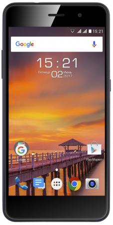 Смартфон Fly FS522 Cirrus 14 синий 5 16 Гб LTE Wi-Fi GPS 3G Midnight Blue смартфон asus zenfone live zb501kl золотистый 5 32 гб lte wi fi gps 3g 90ak0072 m00140
