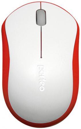 лучшая цена Мышь беспроводная Perfeo Parad белый красный USB + радиоканал