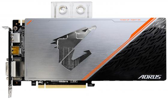 Купить Видеокарта GigaByte GeForce GTX 1080 Ti GV-N108TAORUSX WB-11GD PCI-E 11264Mb 352 Bit Retail