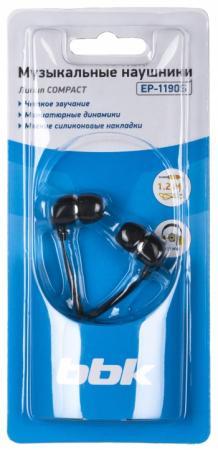 Наушники BBK EP-1190S черный цена