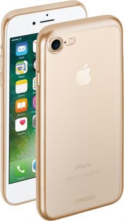 Чехол Deppa Gel Plus для iPhone 7 iPhone 8 матовый золотой прозрачный 85284 накладка deppa chic для iphone 7 plus iphone 8 plus золотой 85300