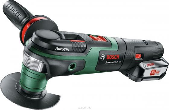 Многофункциональная шлифмашина Bosch AdvancedMulti 18 Вт аккумуляторный многофункциональный инструмент bosch advancedmulti 18 set 0603104021