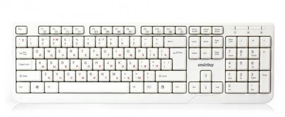 Клавиатура проводная Smart Buy ONE 208 USB USB белый