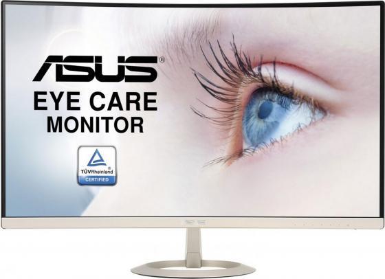 Монитор 27 ASUS VZ27VQ золотистый черный VA 1920x1080 250 cd/m^2 5 ms HDMI DisplayPort VGA Аудио 90LM03E0-B01170 монитор 34 asus mx34vq черный va 3440x1440 300 cd m^2 4 ms hdmi displayport аудио