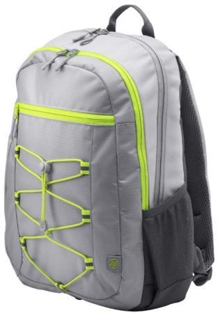 Рюкзак для ноутбука 15.6 HP Active Backpack синтетика серый зеленый 1LU23AA