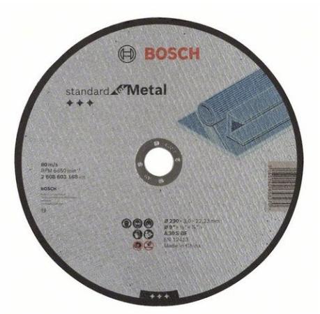 Отрезной круг Bosch Standard 230х3мм SfM прямой по металлу 2608603168 отрезной круг bosch standard 125х1мм sfi прямой по нержавейке 2608603171