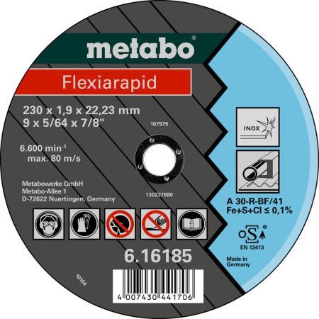 Отрезной круг Metabo Flexiarapid 180x1.6 прямой A30R 616184000 круг отрезной metabo 180х1 6х22 616508000