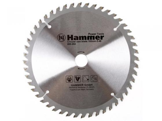 Пильный диск Hammer Flex 205-204 CSB PL 185ммх48х20/16мм по ламинату 30675 бур makita b 47606 sds plus 10x450mm