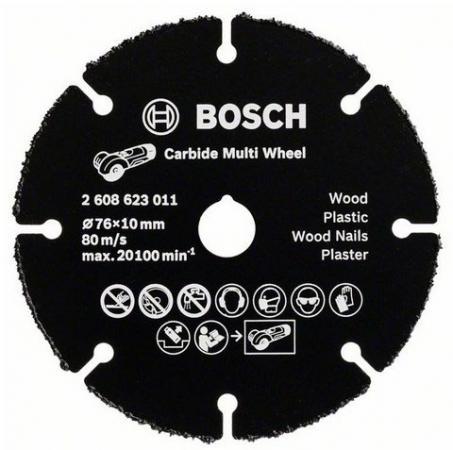 Отрезной круг Bosch 76мм для УШМ по дереву 2608623011 отрезной круг bosch 300х25 4мм 2608623013 по дереву