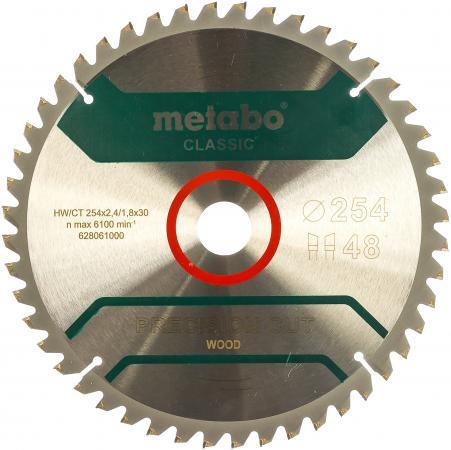 цена на Пильный диск Metabo254x30 НМ 48WZ 5 отр д.торцовок 628061000