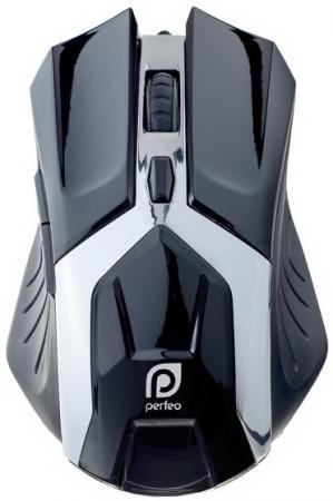 лучшая цена Мышь проводная Perfeo Galaxy PF-1718-GM черная USB
