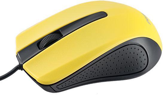 Мышь проводная Perfeo Rainbow PF-353-OP-Y жёлтый чёрный USB мышь проводная perfeo pf 353 op or чёрный оранжевый usb