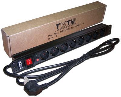 Блок розеток Lanmaster TWT-PDU19-16A8P-1.8 8 розеток 1.8 м черный цена и фото