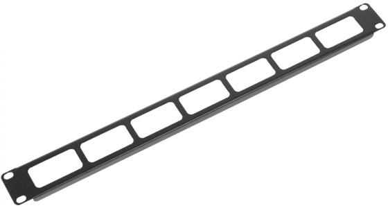 Горизонтальный кабельный органайзер ЦМО ГКО-О-1-9005 19 1U односторонний черный кабельный органайзер цмо сб 9005
