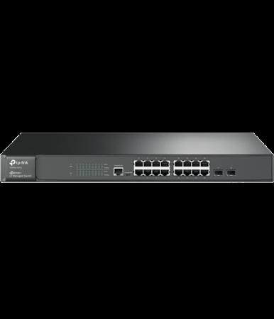 Коммутатор TP-LINK T2600G-18TS управляемый 16-ports 10/100/1000Mbps 2xSFP маршрутизатор mikrotik ccr1036 8g 2s 8x10 100 1000mbps 2xsfp 1xmicrousb