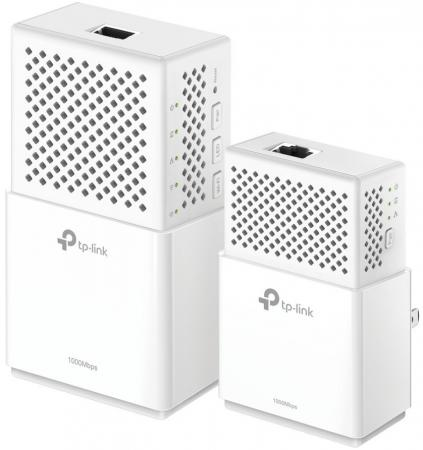 Комплект адаптеров Powerline TP-LINK TL-WPA7510KIT 10/100/1000Mbps powerline адаптер tp link tl pa4010kit tl pa4010kit