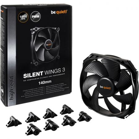 Вентилятор be quiet! SilentWings 3 140x140x25мм 4pin 1000rpm BL067 цена