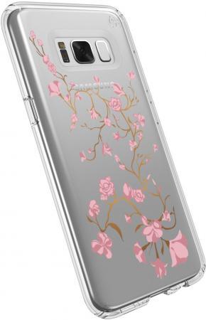 Чехол Speck Presidio Clear+Print для Samsung Galaxy S8. Материал пластик. Дизайн Golden Blossoms Pink/Clear. benchmade presidio ultra bm522
