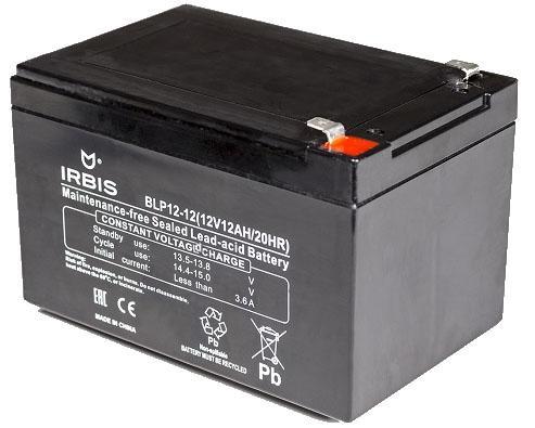 Батарея Irbis VRLA-AGM BLP12-12 12Ач 12B bosch 12ач m6 agm 512 014 010 ytx14 bs