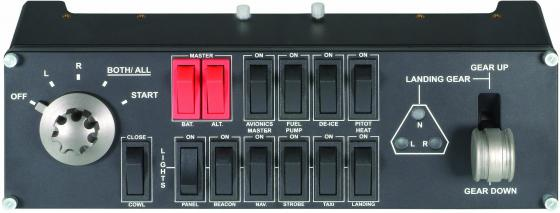 Блок переключателей для авиасимуляторов Logitech G Saitek Pro Flight Switch Panel 945-000012 luxury interruptor cristal remote control switch smart home 2 gang 1 way touch switch black glass panel wall switch zuczug