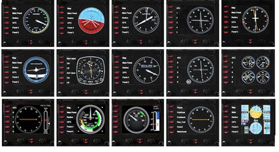 Приборная панель с ЖК-дисплеем для авиасимуляторов Logitech G Saitek Pro Flight Instrument Panel 945-000008 5 pcs 1no 1nc spdt ceramic socket 5 pin connecting car relay dc 12v 40 amp