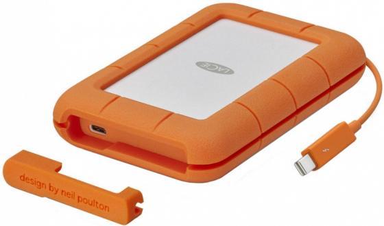 Внешний жесткий диск 2.5 Thunderbolt 500Gb Lacie Rugged STFS500400 оранжевый lacie rugged mini 2tb внешний жесткий диск