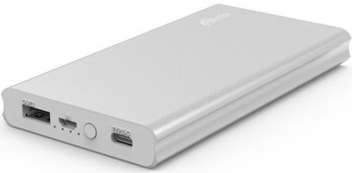 Портативное зарядное устройство Ritmix RPB-10977PQC 10000мАч серебристый портативное зарядное устройство ritmix rpb 10001l 10000мач белый