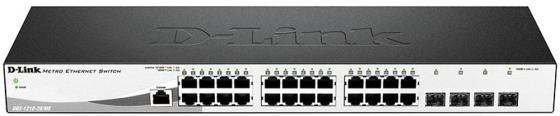Коммутатор D-Link DGS-1210-28/ME/P/B1A управляемый 24 порта 10/100/1000Mbps 4xSFP