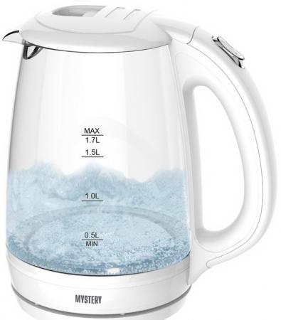 Купить Чайник MYSTERY MEK-1642 1800 Вт белый 1.7 л стекло