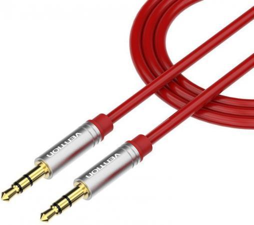 Кабель соединительный 1.0м Vention 3.5 Jack (M) - 3.5 Jack (M) красный P360AC-R100 кабель соединительный 3 0м vention 3 5 jack m 3 5 jack m плоский vab a08 s300