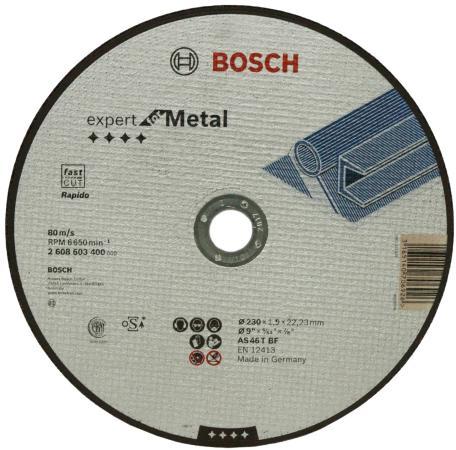 Отрезной круг Bosch ExpertMetal 230x1.9мм 2608603400 шлифовальная машина bosch gss 230 ave professional