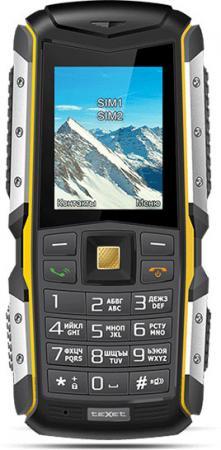 Телефон Texet TM-512R черный жёлтый 2 мобильный телефон texet tm 404 красный 2 8