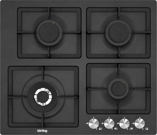 Фото - Варочная панель газовая Korting HG 697 CTN черный встраиваемая газовая варочная панель korting hg 630 ctn pro
