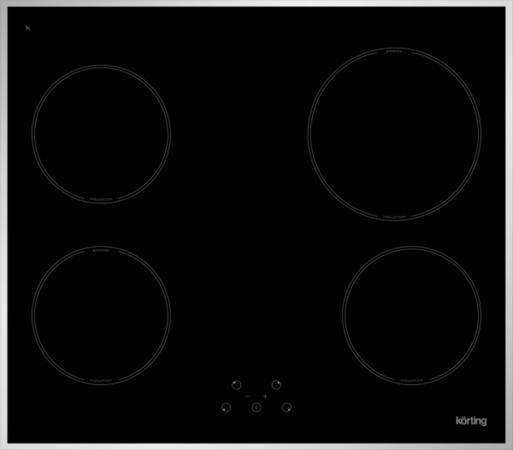Фото - Варочная панель электрическая Korting HI 64021 X черный индукционная варочная поверхность kortinghi 64021 bw