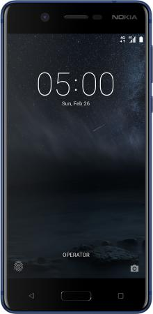 Смартфон NOKIA 5 DS синий 5.2 16 Гб NFC LTE Wi-Fi GPS смартфон alcatel 3 5052d синий 5 5 16 гб lte wi fi gps 3g 5052d 2balru7