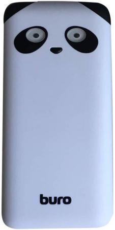 Портативное зарядное устройство Buro RA-10000PD-WT Panda 10000мАч белый внешний аккумулятор buro ra 10000pd gn panda 10000 мач зеленый
