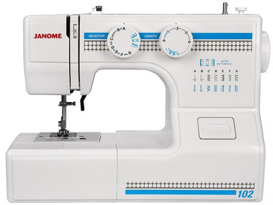 Швейная машина Janome 102 белый швейная машинка janome sew mini deluxe